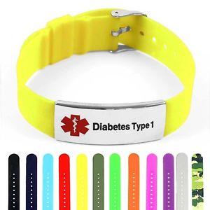 【送料無料】ブレスレット アクセサリ― シリコンポリッシュスチールタグブレスレットidtagged silicone medical alert defibrilator polished steel tag id bracelet