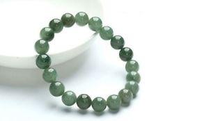 【送料無料】ブレスレット アクセサリ― ナチュラルビーズブレスレット10mm perfect chinese 100 a grade natural jade jadeite bean beads bracelet