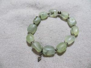 【送料無料】ブレスレット アクセサリ― silpada925シルバーマットブレスレットsilpada retired 925 silver beaded green prehnite stones matte stretch bracelet