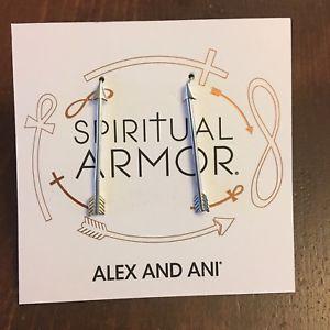 【送料無料】ブレスレット アクセサリ― アレックスイヤリング alex and ani spiritual armor arrow earrings
