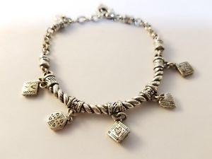 【送料無料】ブレスレット アクセサリ― brighton 5リンクブレスレットbrighton 5 charm silver link bracelet