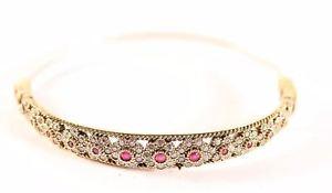 【送料無料】ブレスレット アクセサリ― トルコハンドメイドオスマンルビースターリングシルバーブレスレットturkish jewelry handmade ottoman authentic ruby 925k sterling silver bracelet
