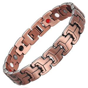 【送料無料】ブレスレット アクセサリ― メンズブレスレットdouble strength 4 elements mens pure copper magnetic therapy bracelet arthritis