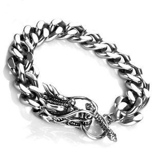 【送料無料】ブレスレット アクセサリ― クールジュエリーチタンドラゴンヘッドメンズブレスレットcool men jewelry 316l titanium steel chinese dragon head mens bracelets