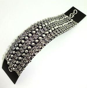 【送料無料】ブレスレット アクセサリ― ブレスレットbeautiful plain metal bracelet 82 gms
