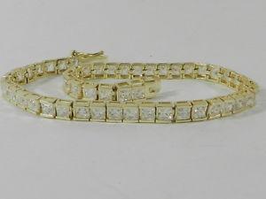 【送料無料】ブレスレット アクセサリ― スターリングシルバープリンスカットブレスレットgiani bernini 18kgold over sterling silver, prince cut  cubiczirconia bracelet