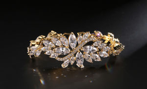 【送料無料】ブレスレット アクセサリ― 18kテニス18k rose gold solid fashion luxury gemstone womens tennis adjustable bracelet