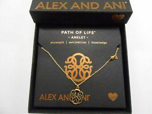 【送料無料】ブレスレット アクセサリ― アレックスパスラファエリアンゴールドalex and ani path of life anklet, rafaelian gold nwtbc