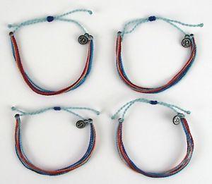 【送料無料】ブレスレット アクセサリ― プラビダブレスレットロットlot of 4 pura vida riptide bracelets