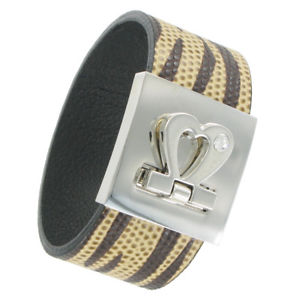 【送料無料】ブレスレット アクセサリ― ステートメントカフスブレスレットアニマルプリントstatement cuff bracelet wrap leather brown tan striped animal print heart