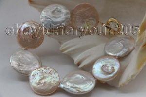 【送料無料】ブレスレット アクセサリ― コインパールブレスレット8 genuine natural 1921mm white coin pearl bracelet 14k f2067