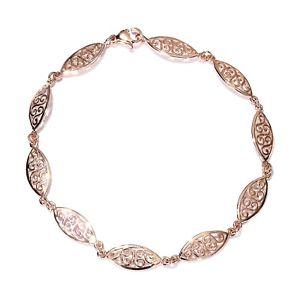 【送料無料】ブレスレット アクセサリ― ビクトリアゲートブレスレットプラチナデザイナーvictorian filigree gate bracelet 18k rg yg or platinum brass sturdy designer 75