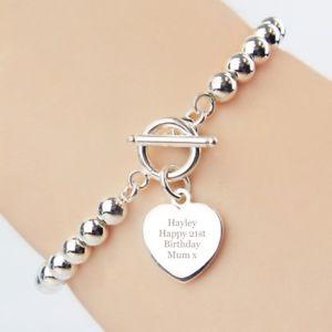 【送料無料】ブレスレット アクセサリ― パーソナライズメッキバーブレスレットクリスマスpersonalised silver plated tbar bracelet charm gift xmas birthday bridesmaid