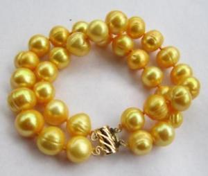 【送料無料】ブレスレット アクセサリ― サウスシーゴールデンパールブレスレットkゴールドクラスプ2 row natural 1112mm south sea golden pearl bracelet 14k gold clasp