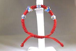 【送料無料】ブレスレット アクセサリ― スターリングシルバーハンドメイドコードブレスレットsterling silver handmade adjustable red cord bracelet