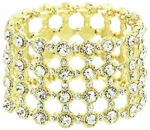 【送料無料】ブレスレット アクセサリ― ファンシーブレスレットクリスタルストレッチクリアfancy stretch bracelet bg clear crystal luxury plated