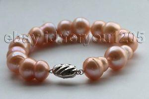 【送料無料】ブレスレット アクセサリ― ピンクバロックパールブレスレットシルバー8 genuine natural 21mm pink baroque twins pearl bracelet 925silver f2715