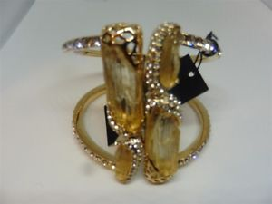 【送料無料】ブレスレット アクセサリ― ロスレディースカフブレスレットkara ross goldtone ladies cuff bracelet