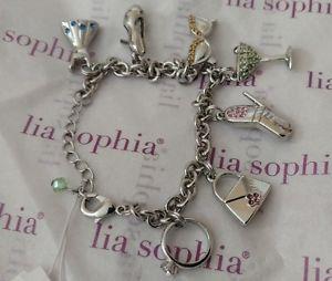 【送料無料】ブレスレット アクセサリ― ソフィアパーティブレスレットシルバー wt lia sophia party girl charm bracelet 7 charms w colored crystals silver