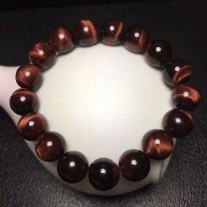 【送料無料】ブレスレット アクセサリ― レッドタイガーアイラウンドビーズパワーブレスレットnatural red tigers eye gemstone round beads power bracelet 12mm aaa