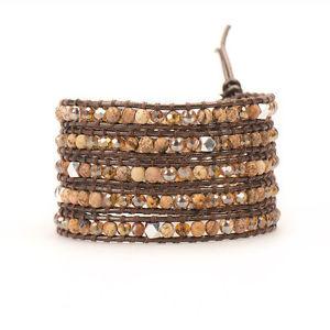 【送料無料】ブレスレット アクセサリ― レディースブラウンレザーブレスレットドルラップ womens brown leather wrap bracelet nip 199