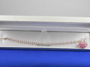 【送料無料】ブレスレット アクセサリ― ベルクファインシルバープレートピンクトグルブレスレットドルbelk silverworks fine silver plate pink pave heart charm toggle bracelet 55