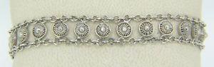 【送料無料】ブレスレット アクセサリ― グラムスターリングシルバーファンシーリンクブレスレット109 grams sterling silver 7 14 7 34 fancy circular link bracelet x11