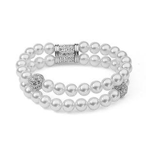 【送料無料】ブレスレット アクセサリ― ゴージャスkホワイトゴールドメッキオーストリアクリスタルパールブレスレットgorgeous 18k white gold plated amp; genuine austrian crystal and pearl bracelet