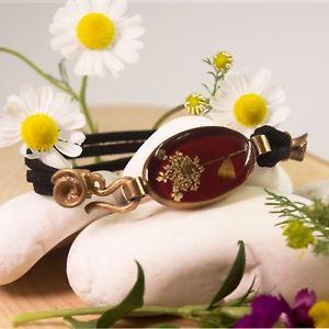 【送料無料】ブレスレット アクセサリ― トルコハンドメイドジュエリーブロンズアクリルレディースブレスレットレッドリビングliving dry flowers turkish handmade jewelry bronze acrylic ladies bracelet red