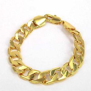 【送料無料】ブレスレット アクセサリ― ヴァレンタイン18kイェローゴールド924cmチェーンブレスレットmens valentines gift 18k yellow gold plated 9 24cm no stone chain bracelet