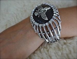 【送料無料】ブレスレット アクセサリ― ブレスレットイランペルシャfaravahar crystal bracelet iranian persian art zoroastrian pahlavi gift farvahar