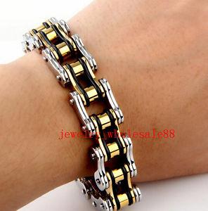 【送料無料】ブレスレット アクセサリ― ゴシックステンレススチールオートバイライダーチェーンブレスレットgothic gift tricolor stainless steel motorcycle biker chain bracelet men 866