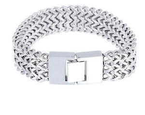 【送料無料】ブレスレット アクセサリ― 102gステンレスフィガロチェーンブレスレット18mm102g heavy biker stainless steel huge figaro chain bracelet mens jewelry 18mm