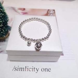 【送料無料】ブレスレット アクセサリ― s925stetlingシルバーブタベルブレスレットペンダントs925 stetling silver round beads match lovely pig small bell bracelet pendant