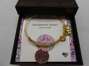 【送料無料】ブレスレット アクセサリ― アレックスチャリティーデザインゴールドalex and ani charity by design celebrate today shiny gold nwtbc