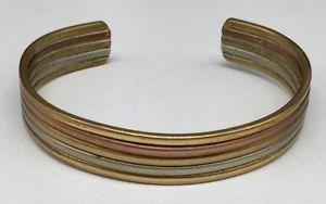 【送料無料】ブレスレット アクセサリ― セルジオハッピーローマシルバーカフブレスレットsergio lub happy roman copper brass amp; silver tri color cuff bracelet