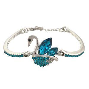 【送料無料】ブレスレット アクセサリ― ファッションデザイナーブレスレットスワンsanskriti zephyrr fashion designer hand bracelet with zircons swan adjustable