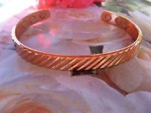 【送料無料】ブレスレット アクセサリ― マグネットインチカフメンズブレスレットワイドsolid copper magnetic 9 inch cuff mens bracelet 928 6 magnets 38 wide