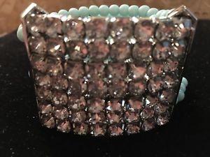 【送料無料】ブレスレット アクセサリ― スーザンブレスレットrhinestoneselasticmultiplunder jewelry susan bracelet multistrand light blue beadsrhinestoneselastic