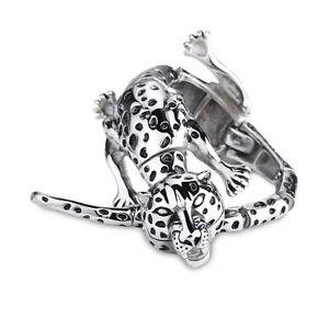 【送料無料】ブレスレット アクセサリ― バイカーステンレスクリスマスブレスレットbiker leopard stainless steel mens bracelet high quality gift for xmas
