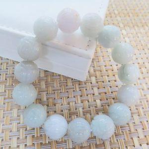 【送料無料】ブレスレット アクセサリ― ヒスイラウンドビーズブレスレットストレッチnatural grade a jade jadeite 13mm flower round beads bracelet stretch