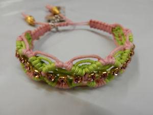 【送料無料】ブレスレット アクセサリ― バラゴンザレスブレスレットピンクグリーンrose gonzales woven bracelet rb15 pink green