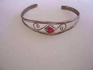 【送料無料】ブレスレット アクセサリ― ビンテージスターリングシルバーカフブレスレットvintage sterling silver cuff bracelet,great cnd,5 12