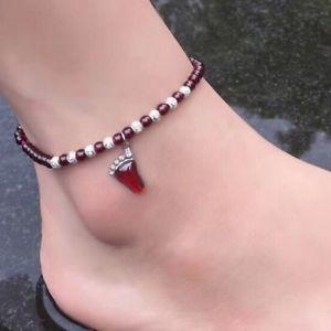 【送料無料】ブレスレット アクセサリ― トレンディチェーンペンダントガーネットtrendy women silver bean chain natural stone pendant garnet anklet