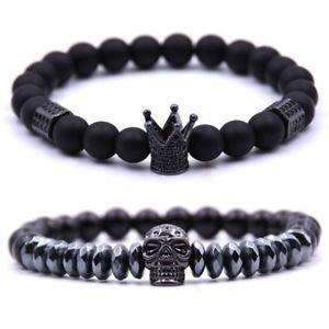 【送料無料】ブレスレット アクセサリ― 3xリバイバルブレスレットブレスレットブレスレットブレスレットw7r13xretro mens bracelet crown bracelet copper skull bracelet bracelet mens w7r1