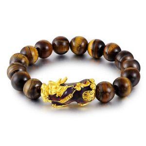 【送料無料】ブレスレット アクセサリ― タイガーアイビーズブレスレットサーモクロミックストランドmen natural tiger eye beaded bracelet brave troops thermo chromic charm strand