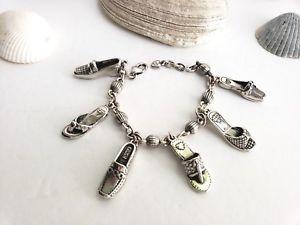 【送料無料】ブレスレット アクセサリ― ブライトンシルバーブレスレットbrighton shoe charm silver bracelet