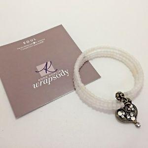 【送料無料】ブレスレット アクセサリ― アンkoplikスワロフスキービーディッドブレスレットanne koplik swarovski crystal beaded wrap bracelet with heart charm soul