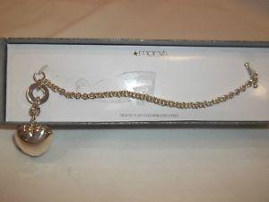 【送料無料】ブレスレット アクセサリ― ステンレススチールブレスレットハートペンダントニース silver plated stainless steel 7 bracelet with heart pendantnice