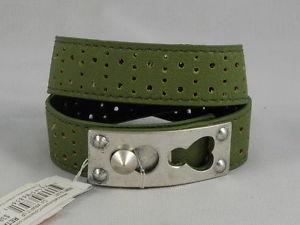 【送料無料】ブレスレット アクセサリ― ジェシカシンプソングリーンラップブレスレットjessica simpson green wrap it up perforated bracelet